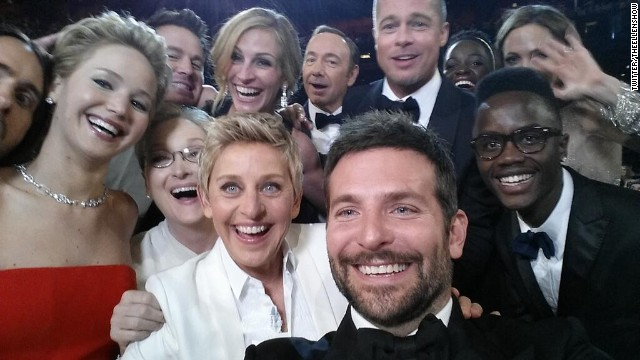 Image courtesy of Ellen DeGeneres...no wait...Bradley Cooper...Who's phone was it?