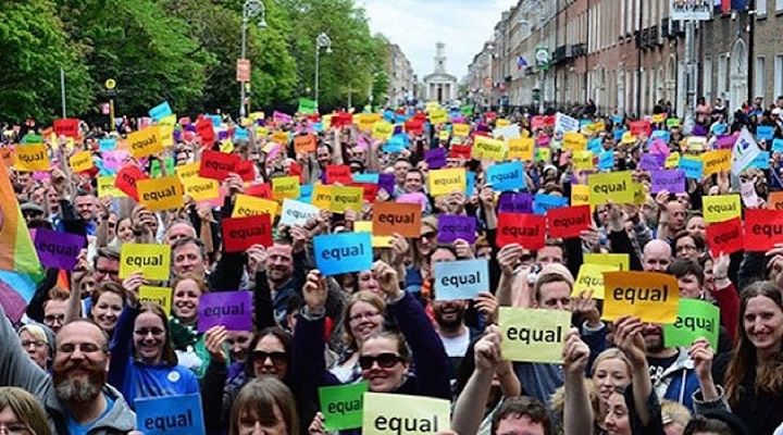 Good on ya Ireland! - The first country to allow same sex marriage by popular vote.